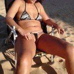 Mulher de corno manso quando vai a praia