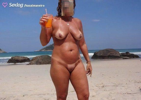 Coroa gostosa pelada nas praias