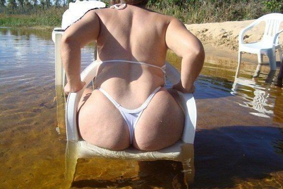 Fotos da esposa de biquíni transparente