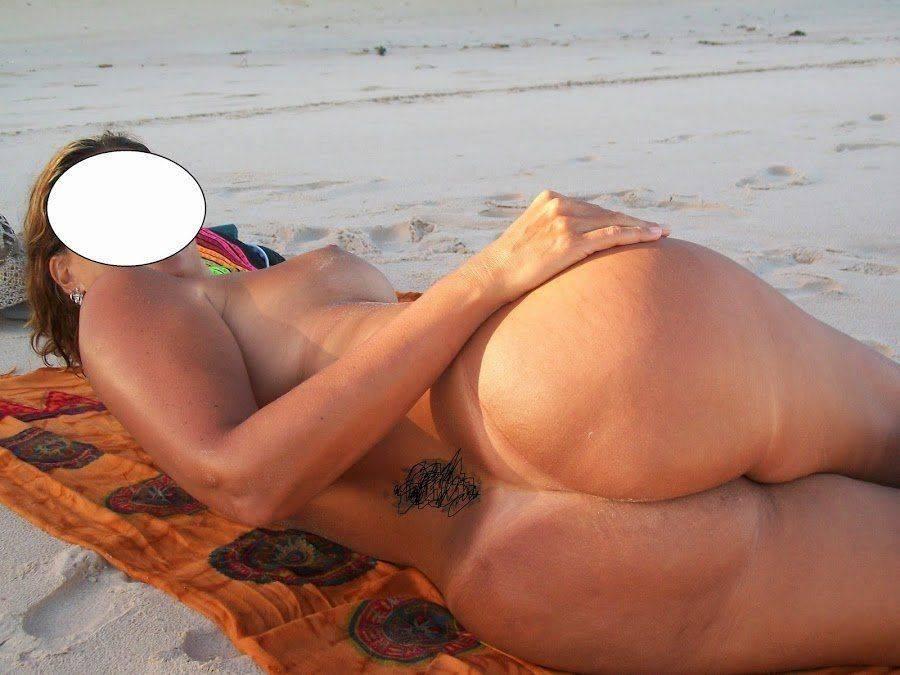 Fotos da esposa toda pelada na praia (3)
