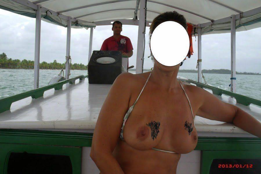 Fotos da esposa toda pelada na praia (7)