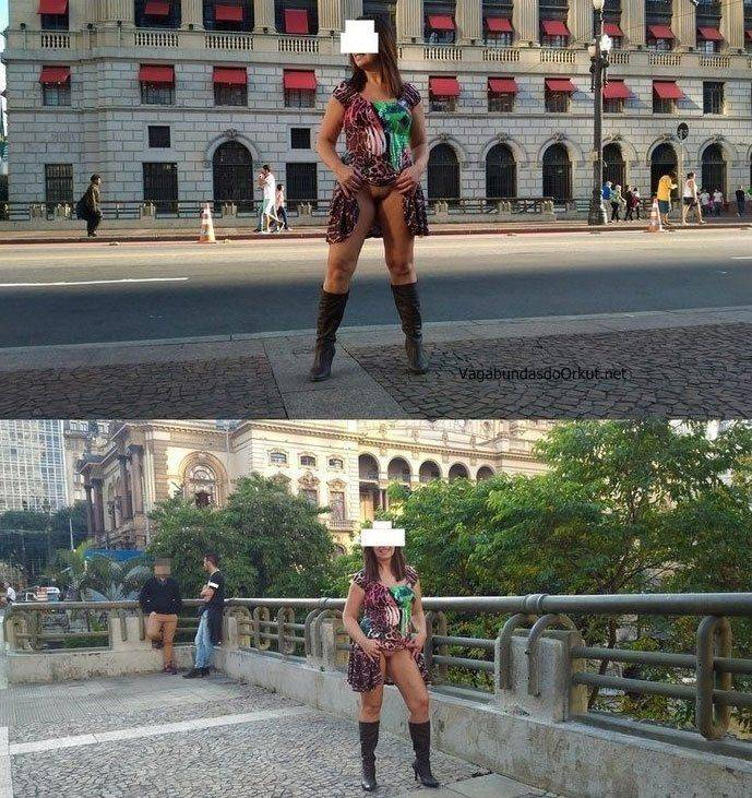 Exibicionismo da esposa pelada na rua (3)