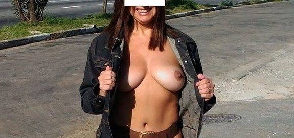 Exibicionismo da esposa pelada na rua