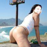 Fotos da esposa sensual na praia