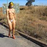 Exibicionismo da esposa pelada no meio da rua