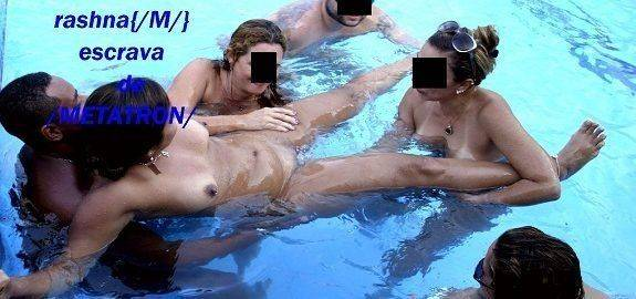 Putaria na piscina com as gostosas