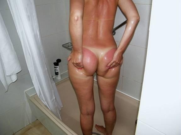 Fotos da esposa pelada com marquinhas de biquíni